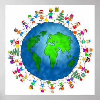 Niños globales del navidad posters