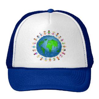 Niños globales gorras