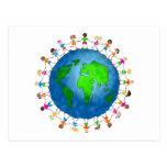 Niños globales postales