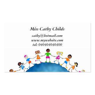 Niños globales, plantilla de tarjeta de negocio