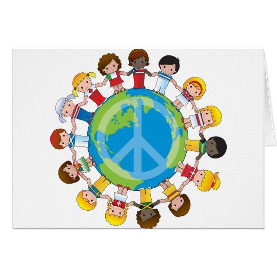 Niños globales tarjeta de felicitación