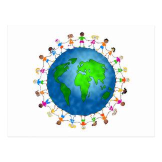 Niños globales tarjeta postal