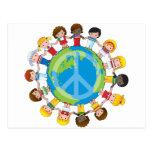 Niños globales tarjetas postales