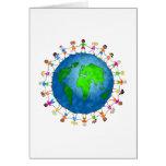 Niños globales tarjetón