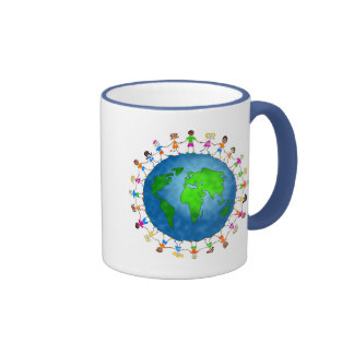 Niños globales taza