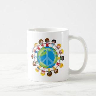 Niños globales taza de café