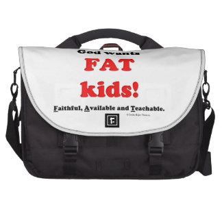 niños gordos bolsas de ordenador