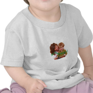 Niños graciosamente camiseta