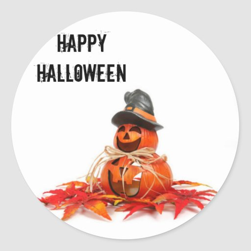 Niños Halloween Pumkins Pegatina Redonda
