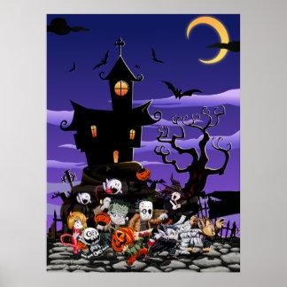 Niños Halloweening Póster