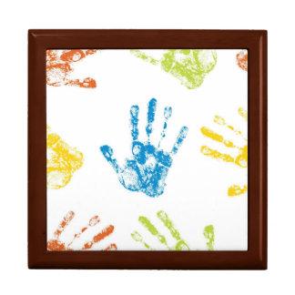 Niños Handprints Cajas De Joyas