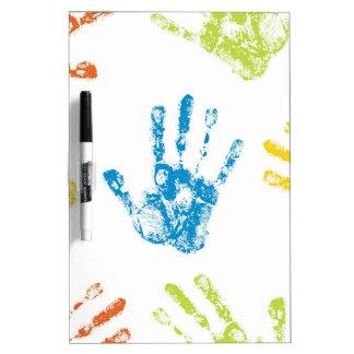 Niños Handprints Pizarras Blancas