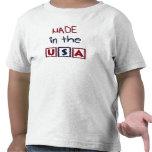 Niños hechos en la camiseta de los E.E.U.U.