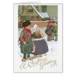 Niños holandeses - navidad que saluda tarjeton