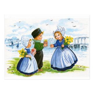 Niños holandeses postal