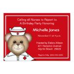 Niños/invitaciones adultas de la enfermera invitación personalizada