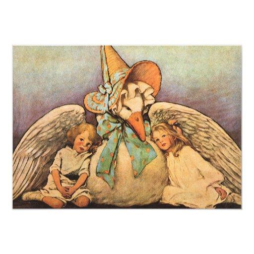Niños Jessie Willcox Smith de la mamá ganso del Invitación 12,7 X 17,8 Cm