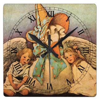 Niños Jessie Willcox Smith de la mamá ganso del Reloj Cuadrado