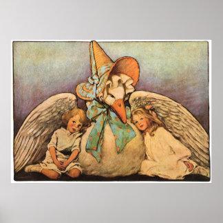 Niños Jessie Willcox Smith de la mamá ganso del vi Poster