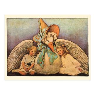 Niños Jessie Willcox Smith de la mamá ganso del vi Tarjetas Postales