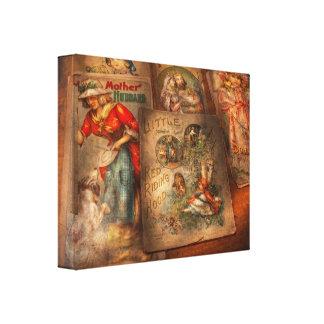 Niños - libros - cuentos de hadas impresiones en lona estiradas