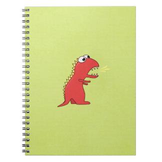 Niños lindos del dinosaurio de T-Rex del dibujo an Libros De Apuntes