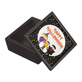 Niños lindos del truco o de la invitación del feli caja de joyas de calidad