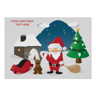 Niños lindos que apelan navidad posters