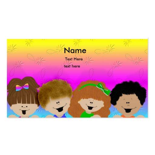 Niños lindos tarjetas de visita