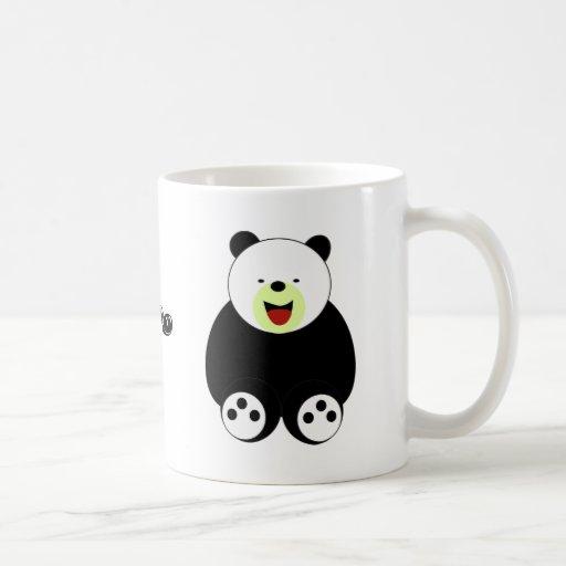 Niños lindos y regalos de la diversión: Panda Taza Básica Blanca