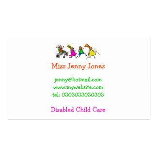 Niños lisiados, necesidades del Special Tarjeta De Visita