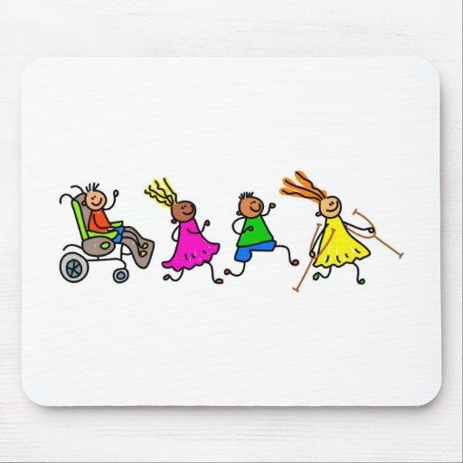 Niños lisiados tapete de ratones