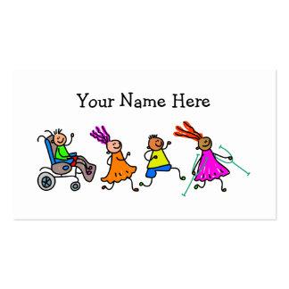 Niños lisiados plantilla de tarjeta de negocio