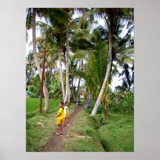 """Niños llenos Ubud Bali del poster (18"""" x 24"""")"""