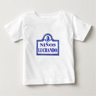 Niños Luchando, Granada Street Sign Baby T-Shirt