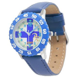 Niños marítimos del código de la señal de la reloj de mano