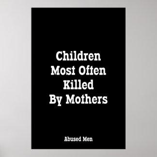 Niños matados lo más a menudo posible por las póster
