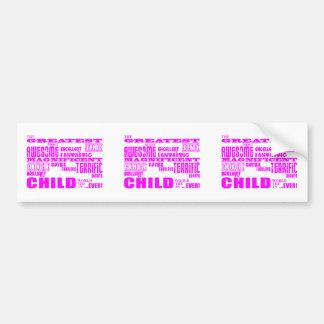 Niños: Niño más grande rosado Pegatina Para Auto