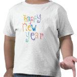Niños, niño, resolución de los Años Nuevos del beb Camiseta