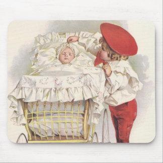 Niños, niño y bebé del Victorian del vintage en Mousepads