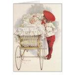 Niños, niño y bebé del Victorian del vintage en Tarjeta De Felicitación