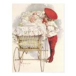 Niños, niño y bebé del Victorian del vintage en Postal