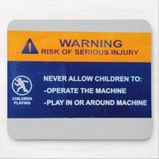 Niños no permitidos en el ordenador alfombrilla de raton