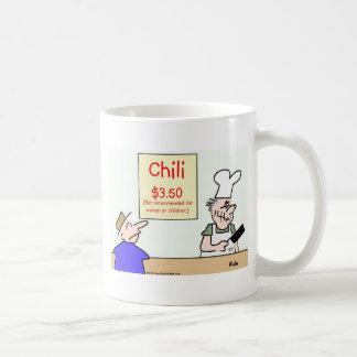 niños no recomendados de las mujeres del chile tazas de café