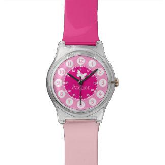 Niños nombrados reloj rosado