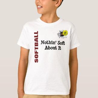 NIÑOS Nothin suave sobre softball Playera