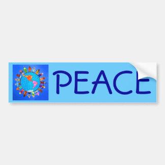 Niños pacíficos etiqueta de parachoque