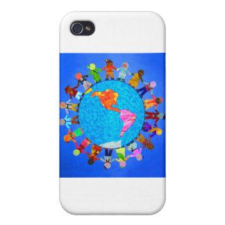 Niños pacíficos iPhone 4 fundas