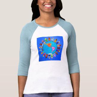 Niños pacíficos camiseta