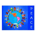 Niños pacíficos postal